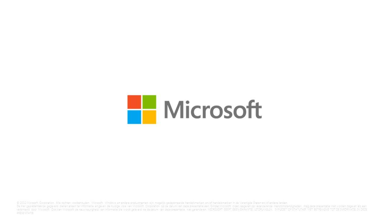 © 2012 Microsoft Corporation. Alle rechten voorbehouden.
