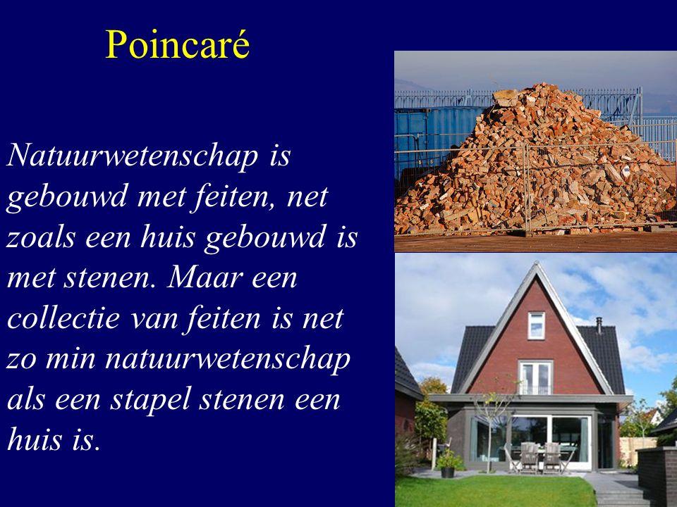 Poincaré Natuurwetenschap is gebouwd met feiten, net zoals een huis gebouwd is met stenen. Maar een collectie van feiten is net zo min natuurwetenscha