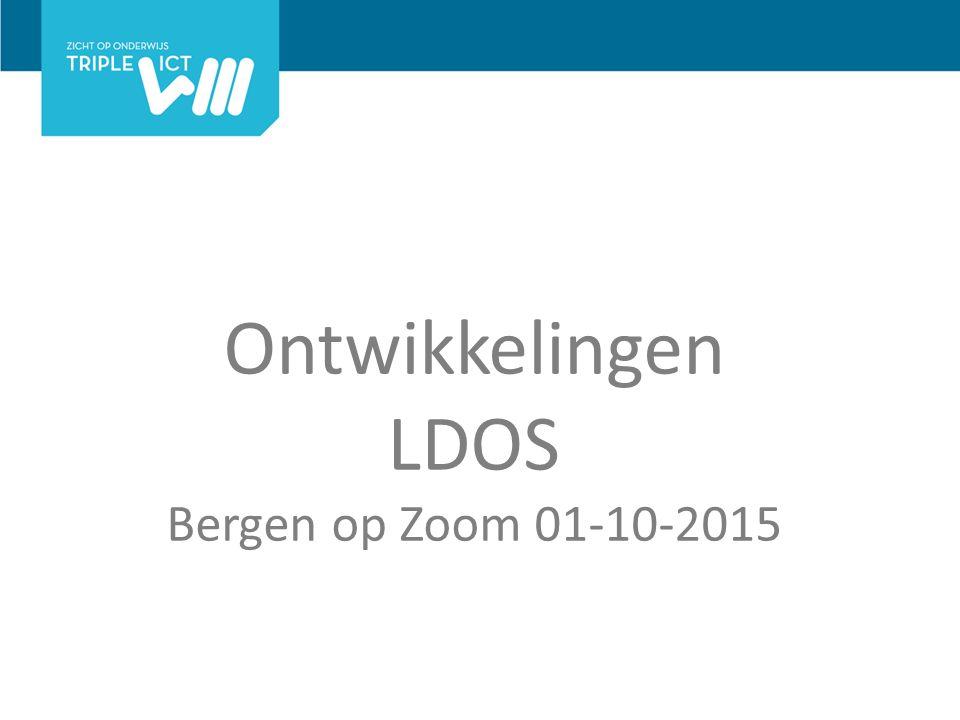 Ontwikkelingen LDOS Bergen op Zoom 01-10-2015