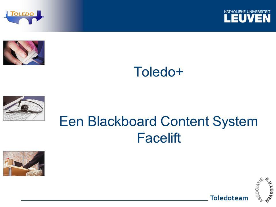 Toledoteam Toledo+ Een Blackboard Content System Facelift