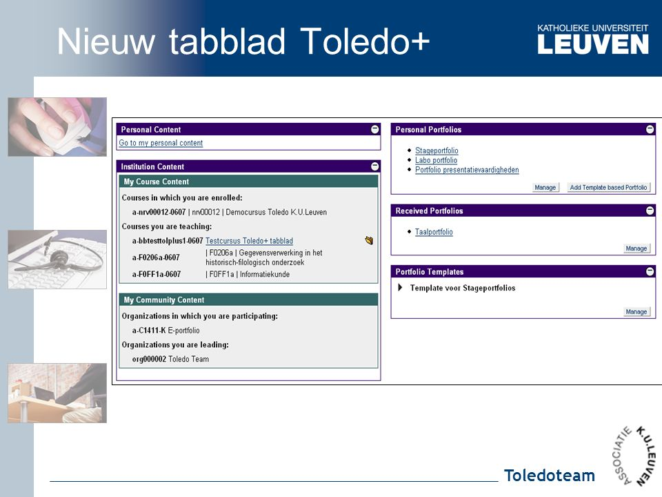 Toledoteam Nieuw tabblad Toledo+