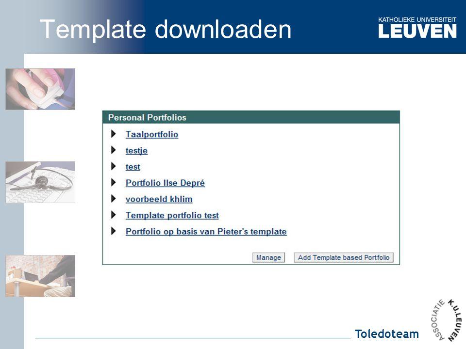 Toledoteam Template downloaden