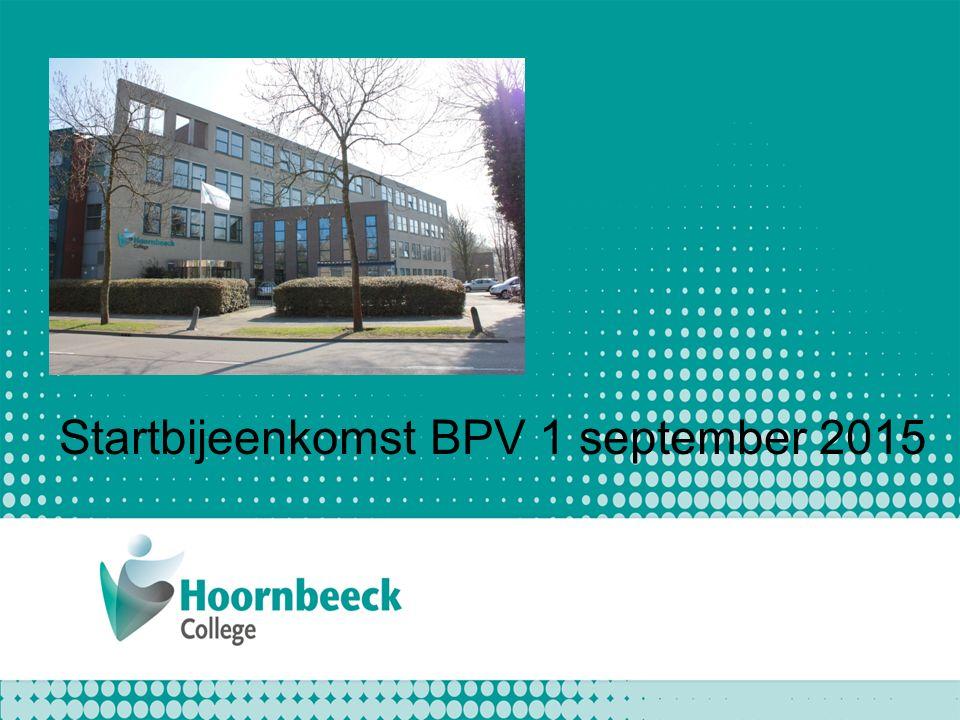 Startbijeenkomst BPV 1 september 2015