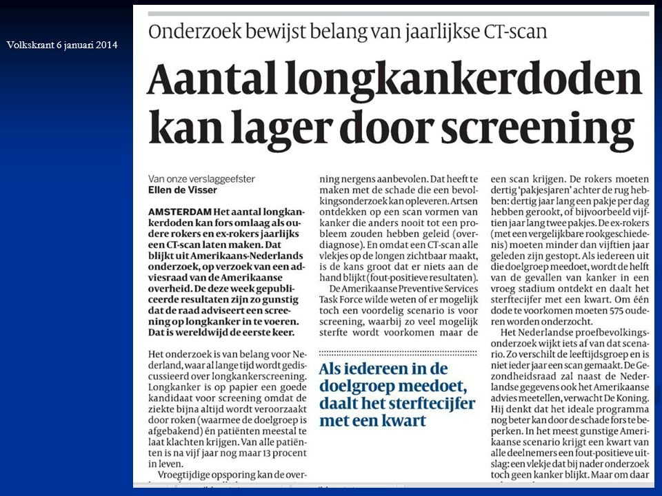 13 Volkskrant 6 januari 2014