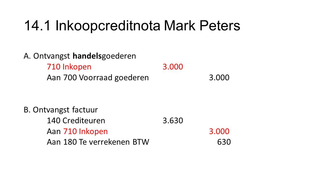 14.1 Inkoopcreditnota Mark Peters A.