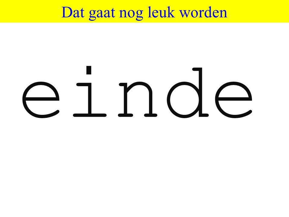 ©HvdS 2013 Dat gaat nog leuk worden einde