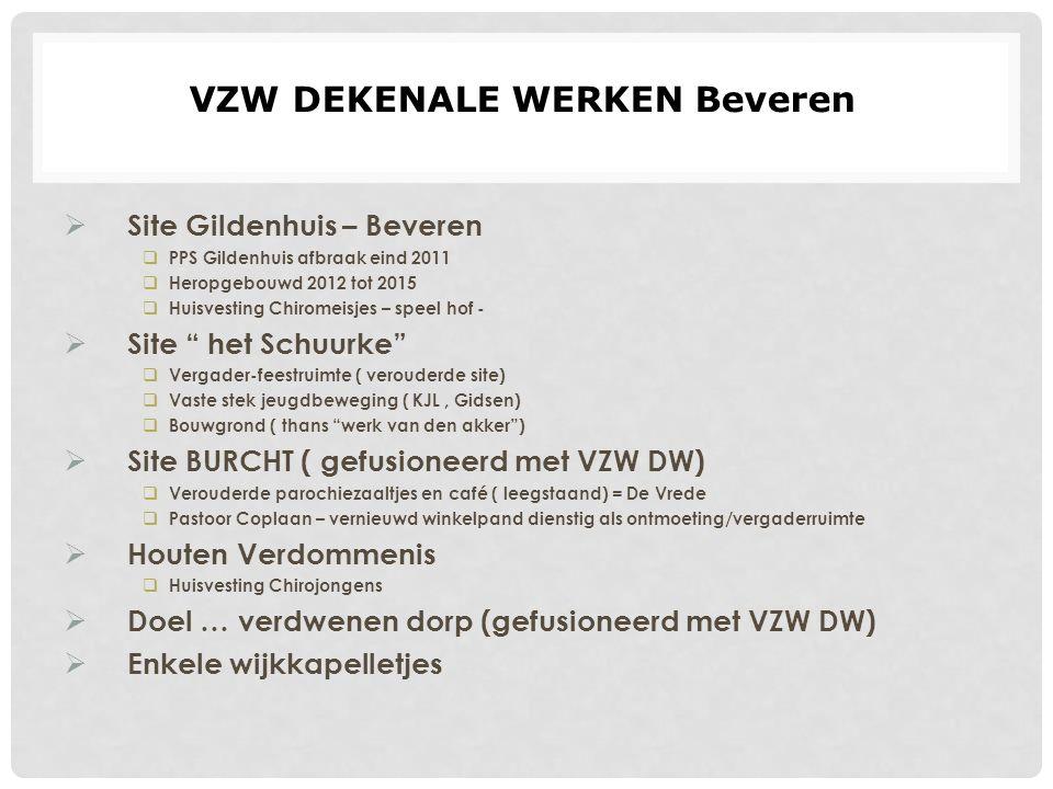 """ Site Gildenhuis – Beveren  PPS Gildenhuis afbraak eind 2011  Heropgebouwd 2012 tot 2015  Huisvesting Chiromeisjes – speel hof -  Site """" het Schu"""