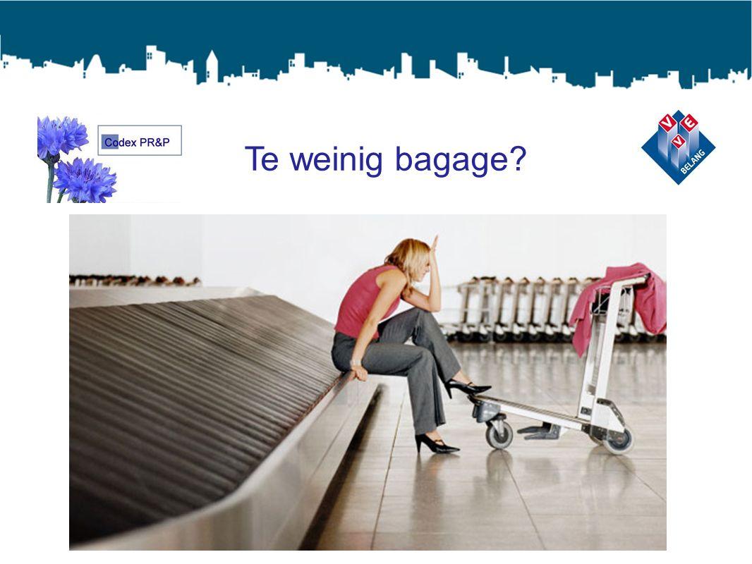 Te weinig bagage