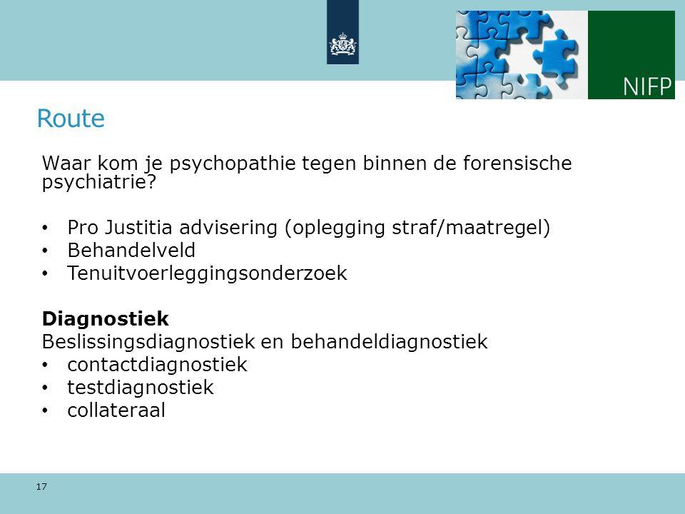 Waar kom je psychopathie tegen binnen de forensische psychiatrie.