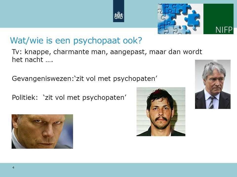 Wat/wie is een psychopaat ook.Tv: knappe, charmante man, aangepast, maar dan wordt het nacht ….