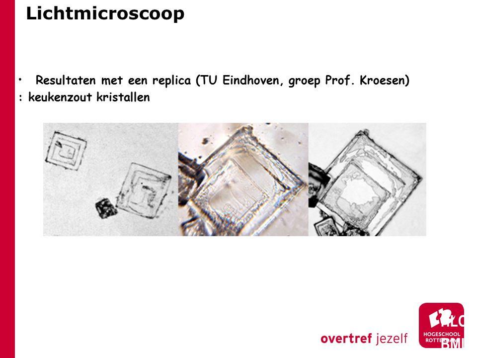 Opbouw van de les Resolutievergroting door kleinere afstand preparaat-objectief, immersieolie, electronenmicroscopie (TEM)