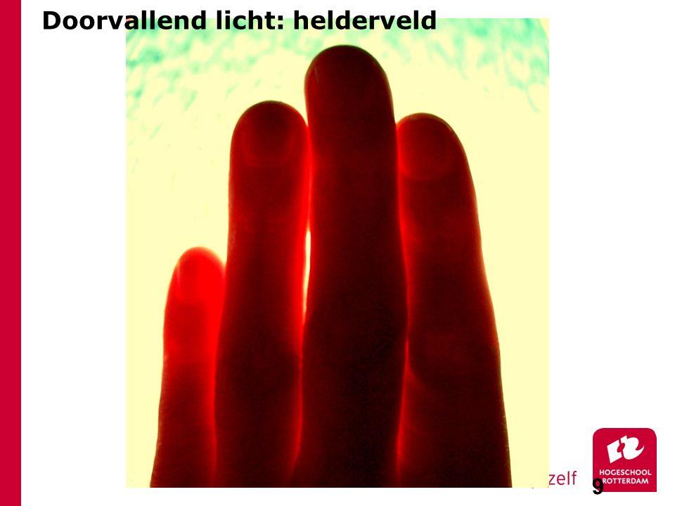 9 Doorvallend licht: helderveld