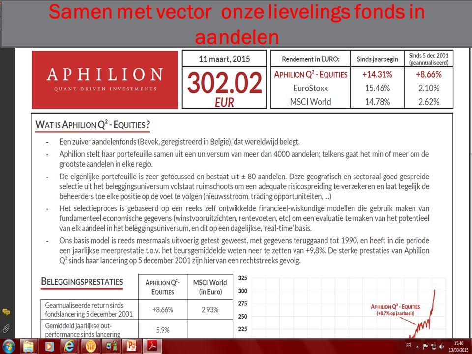 03/01/2016 36 Samen met vector onze lievelings fonds in aandelen
