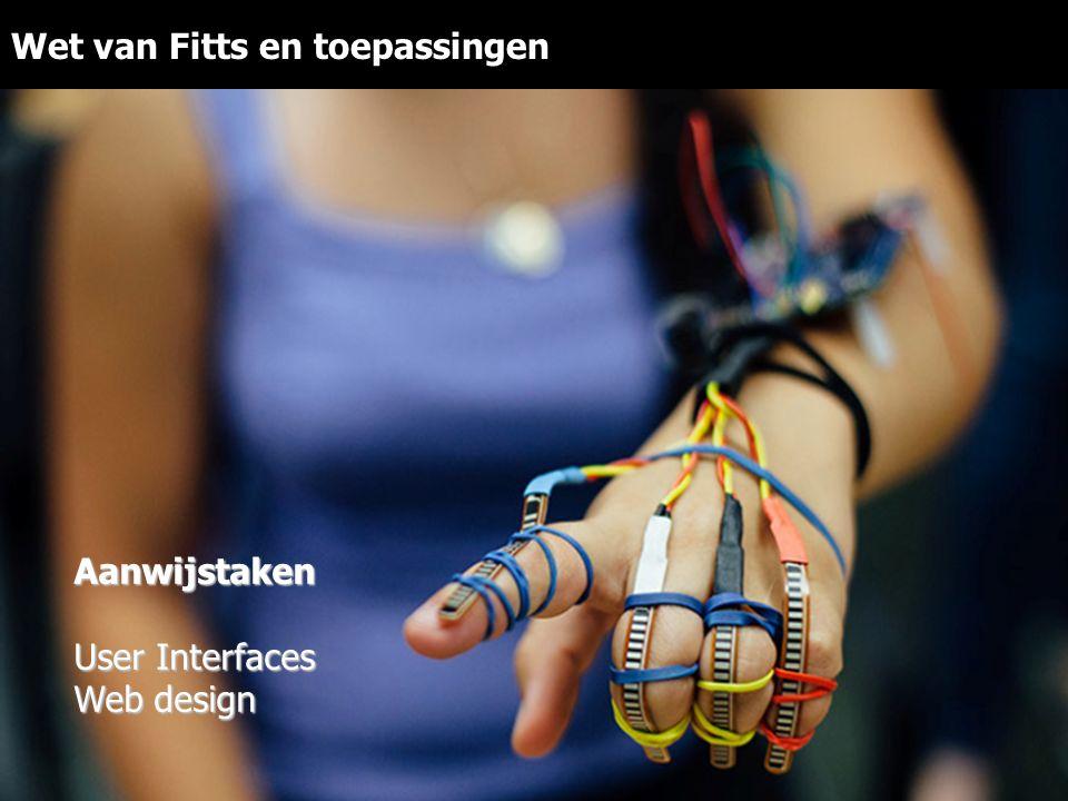 Wet van Fitts en toepassingenAanwijstaken User Interfaces Web design