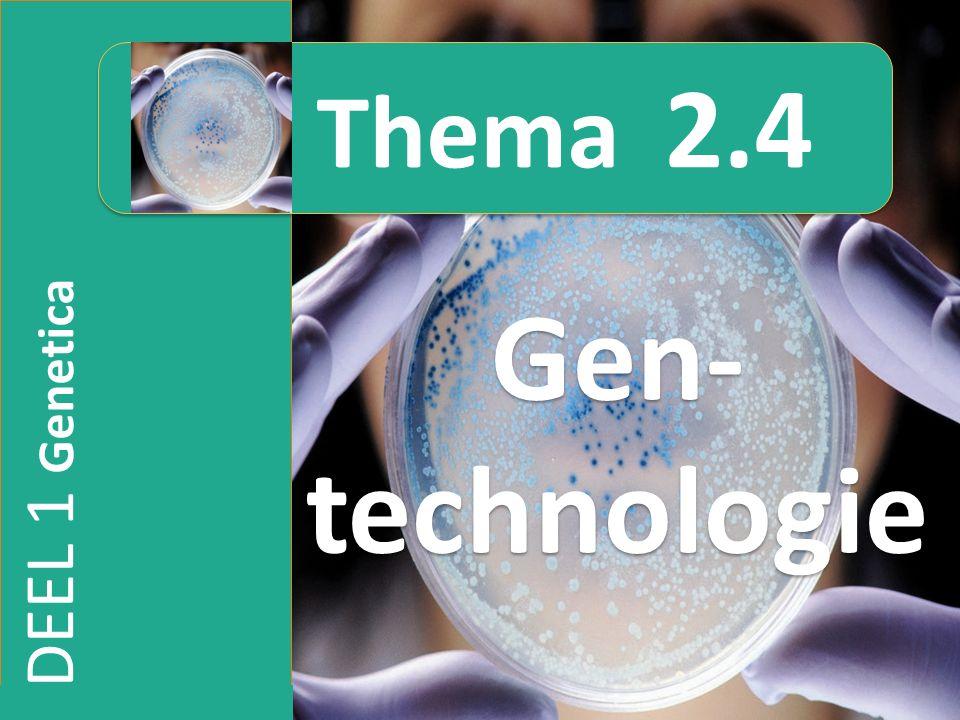 DEEL 1 Genetica Gen- technologie Thema 2.4