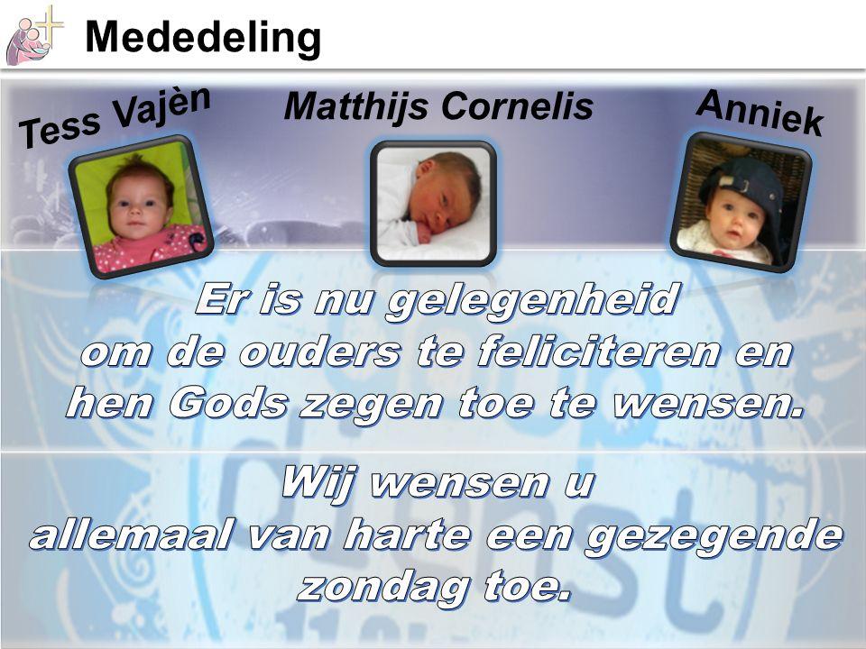 Tess Vajèn Matthijs Cornelis Anniek