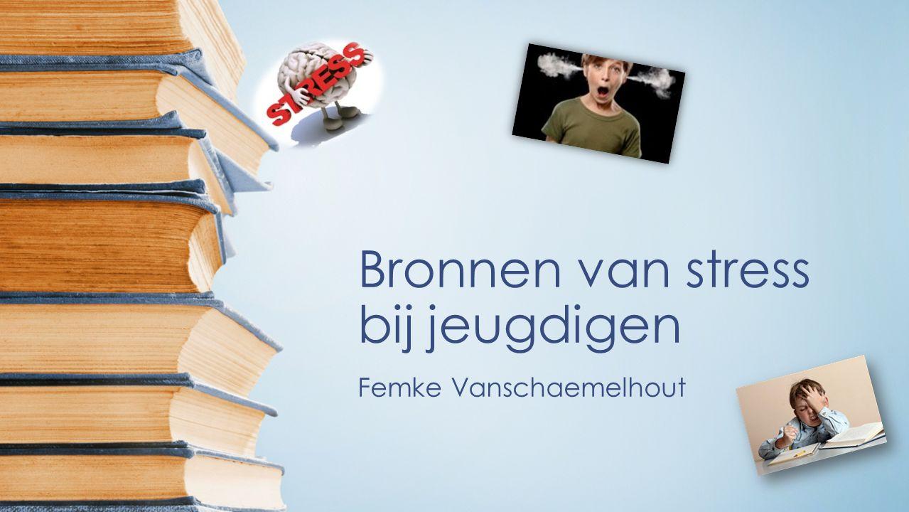 Bronnen van stress bij jeugdigen Femke Vanschaemelhout