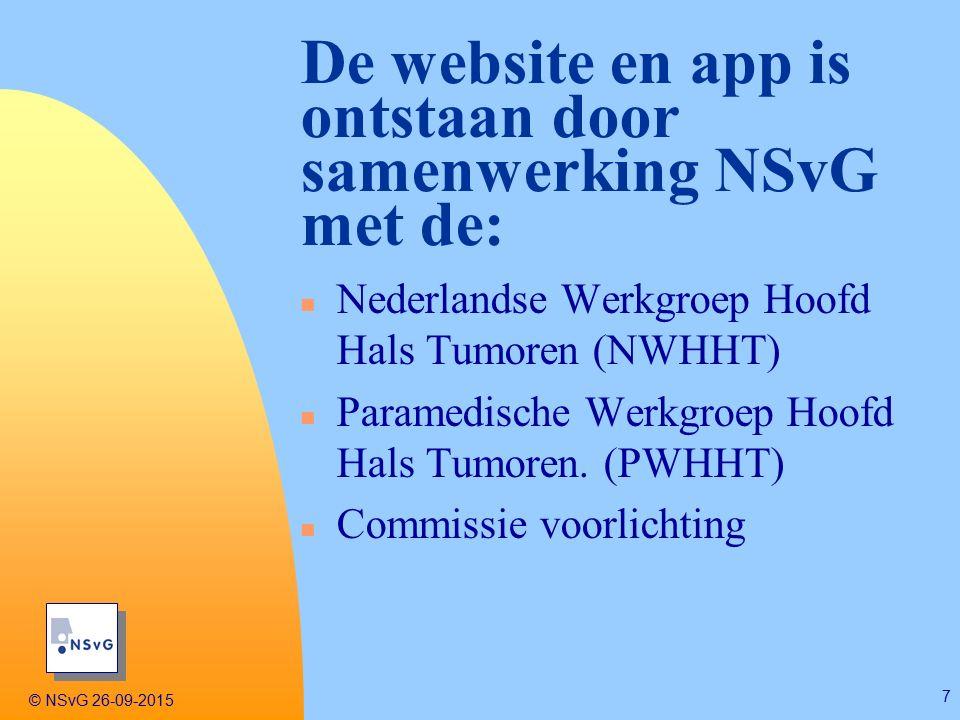 n Nederlandse Werkgroep Hoofd Hals Tumoren (NWHHT) n Paramedische Werkgroep Hoofd Hals Tumoren.