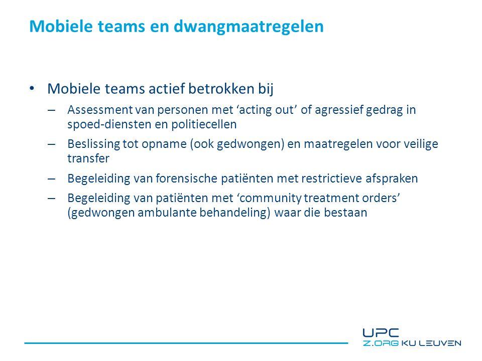 Crisisteams (CRHT) en dwangmaatregelen (Hubbeling, 2012)