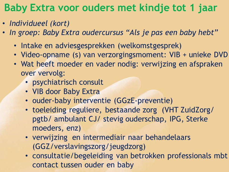 Feit: Kinderen van ouders met psychiatrische problemen lopen risico zelf ook problemen te krijgen Baby Extra voor ouders met kindje tot 1 jaar Individ