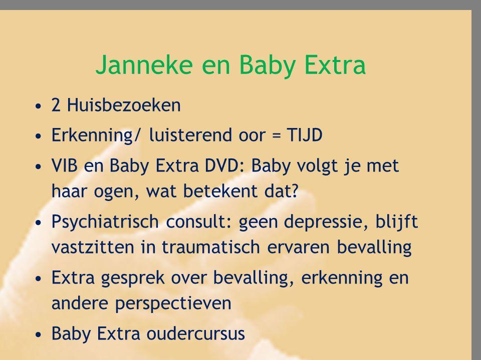 Janneke en Baby Extra 2 Huisbezoeken Erkenning/ luisterend oor = TIJD VIB en Baby Extra DVD: Baby volgt je met haar ogen, wat betekent dat? Psychiatri