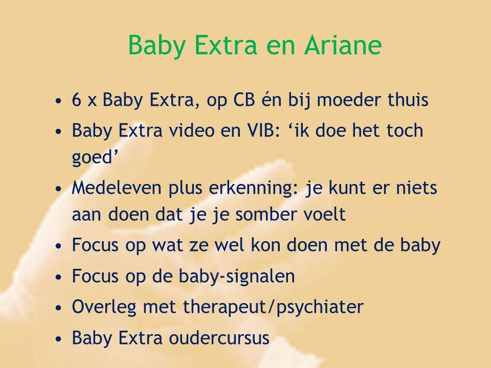 Baby Extra en Ariane 6 x Baby Extra, op CB én bij moeder thuis Baby Extra video en VIB: 'ik doe het toch goed' Medeleven plus erkenning: je kunt er ni