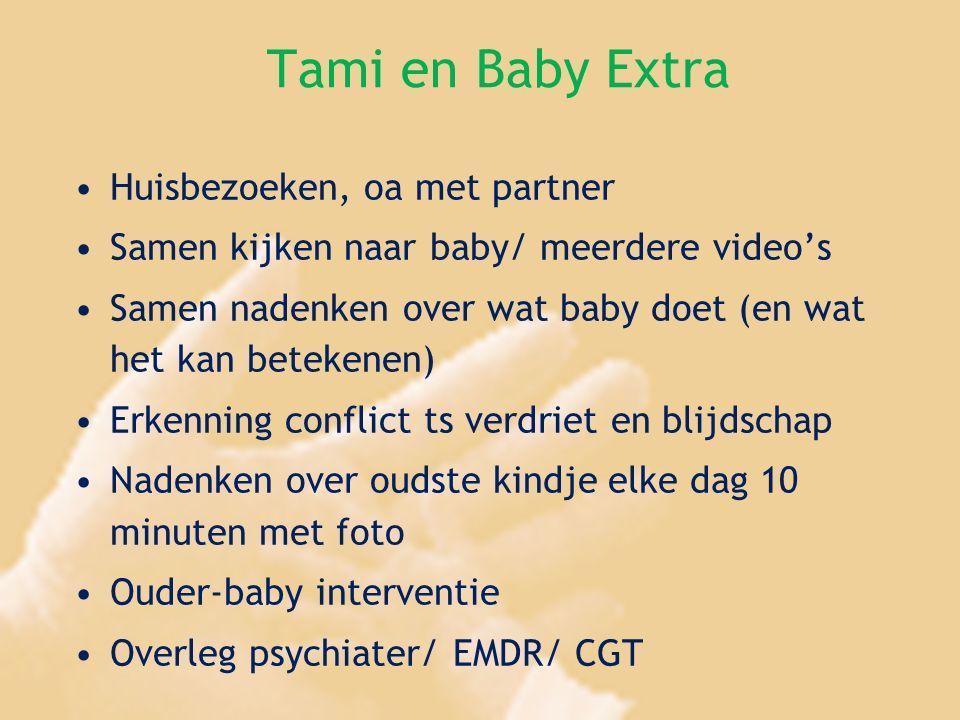 Tami en Baby Extra Huisbezoeken, oa met partner Samen kijken naar baby/ meerdere video's Samen nadenken over wat baby doet (en wat het kan betekenen)