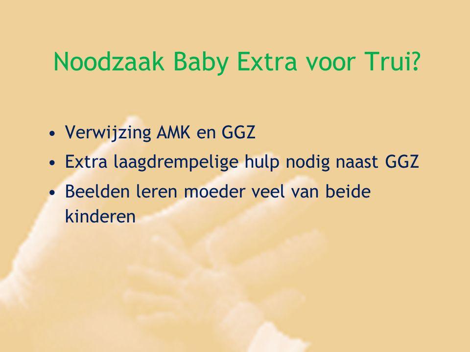 Noodzaak Baby Extra voor Trui? Verwijzing AMK en GGZ Extra laagdrempelige hulp nodig naast GGZ Beelden leren moeder veel van beide kinderen
