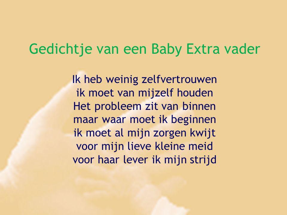 Gedichtje van een Baby Extra vader Ik heb weinig zelfvertrouwen ik moet van mijzelf houden Het probleem zit van binnen maar waar moet ik beginnen ik m