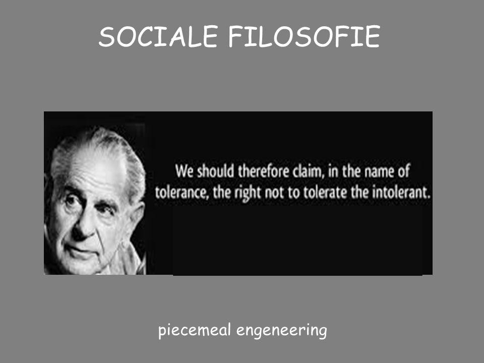 SOCIALE FILOSOFIE ANTI-UTOPIST (franse, russische, etc revolutie) Onder het aanroepen van grote idealen is er in de geschiedenis veel te vaak een hel
