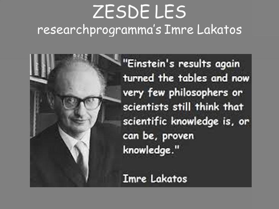ZESDE LES researchprogramma's Imre Lakatos
