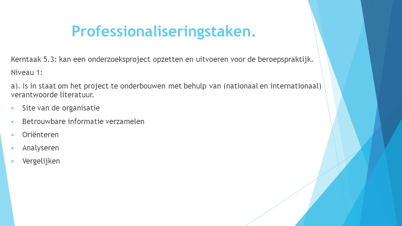 Professionaliseringstaken.