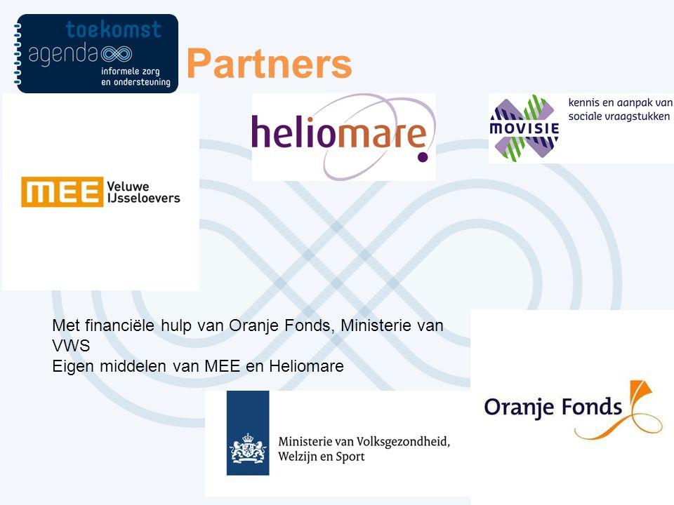 Partners Met financiële hulp van Oranje Fonds, Ministerie van VWS Eigen middelen van MEE en Heliomare
