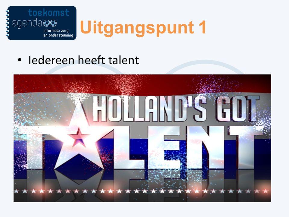 Uitgangspunt 1 Iedereen heeft talent