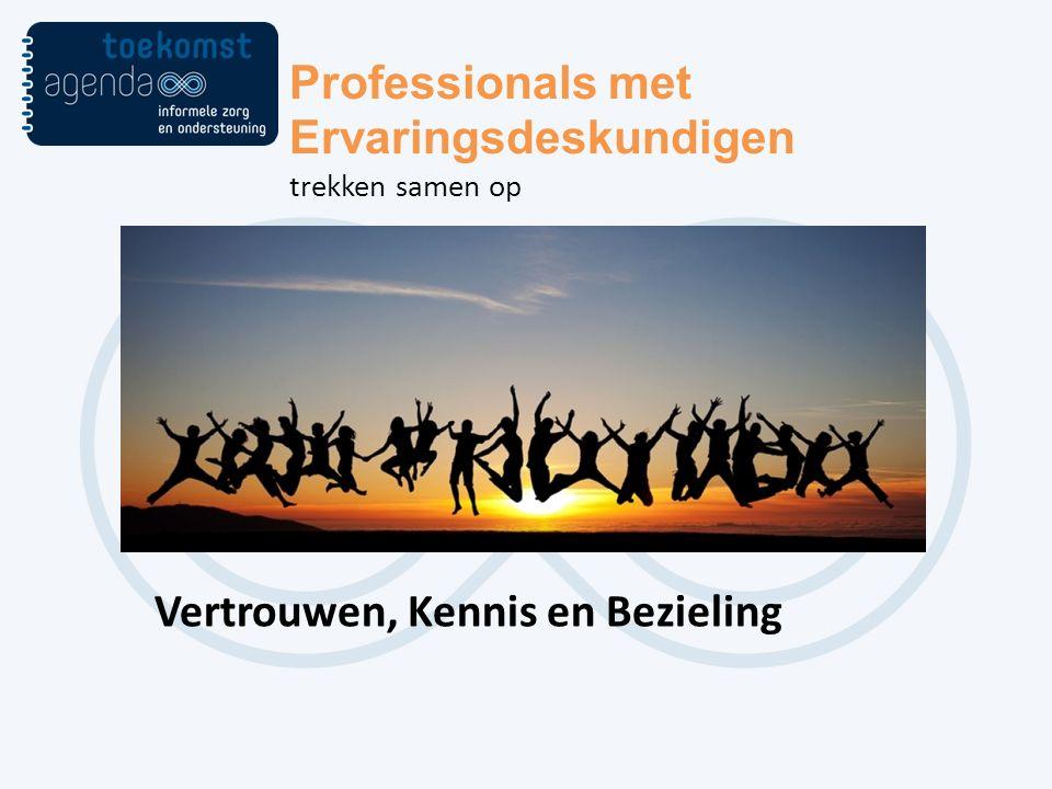 Professionals met Ervaringsdeskundigen trekken samen op Vertrouwen, Kennis en Bezieling