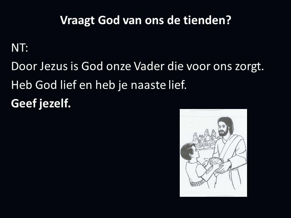 Vraagt God van ons de tienden. NT: Door Jezus is God onze Vader die voor ons zorgt.
