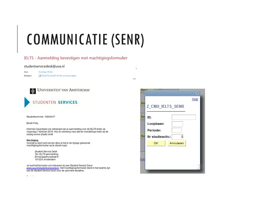 COMMUNICATIE (SENR)