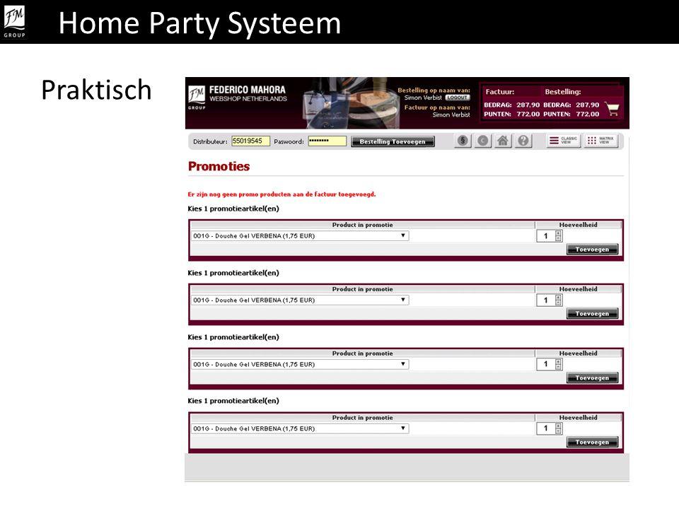 Praktisch Home Party Systeem