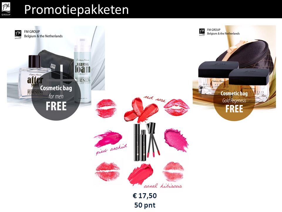 Promotiepakket Promotiepakketen € 17,50 50 pnt