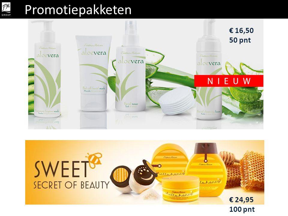 Promotiepakketen € 24,95 100 pnt € 16,50 50 pnt