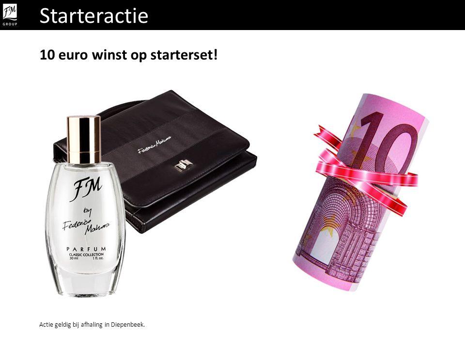 Starteractie 10 euro winst op starterset! Actie geldig bij afhaling in Diepenbeek.
