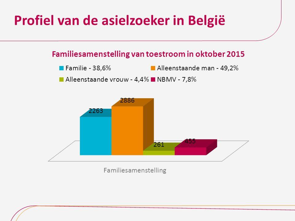 Profiel van de asielzoeker in België