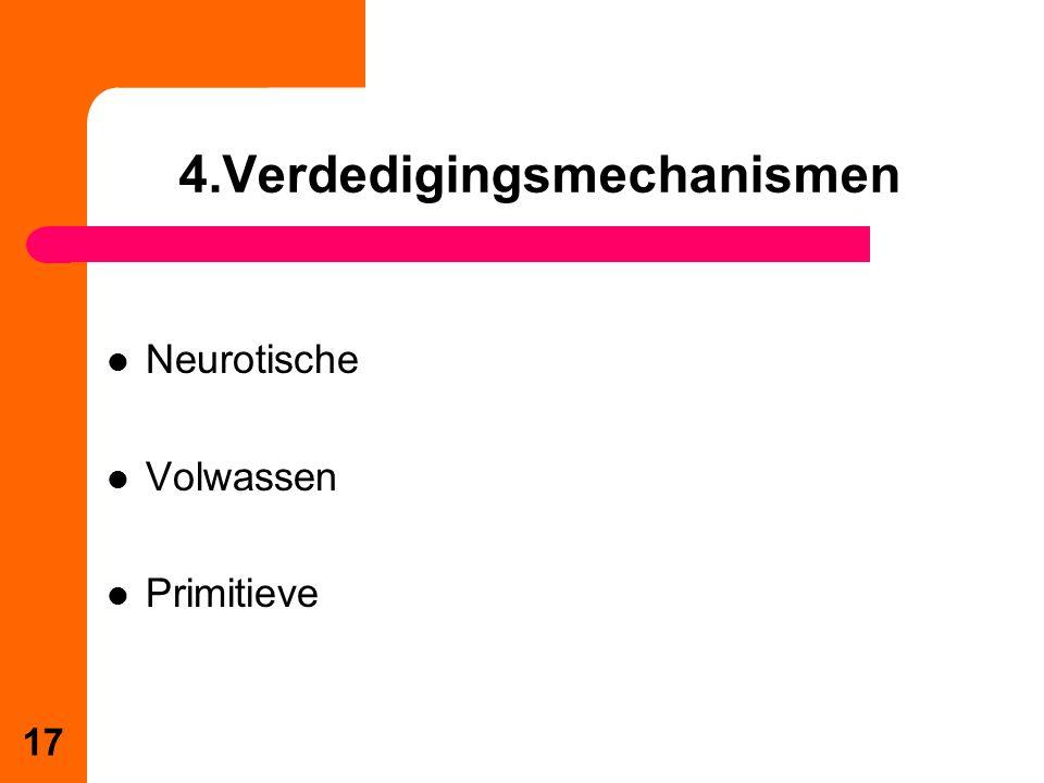 Neurotische Volwassen Primitieve 4.Verdedigingsmechanismen 17