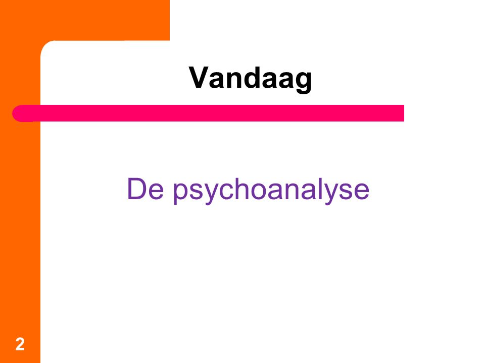 Vandaag De psychoanalyse 2