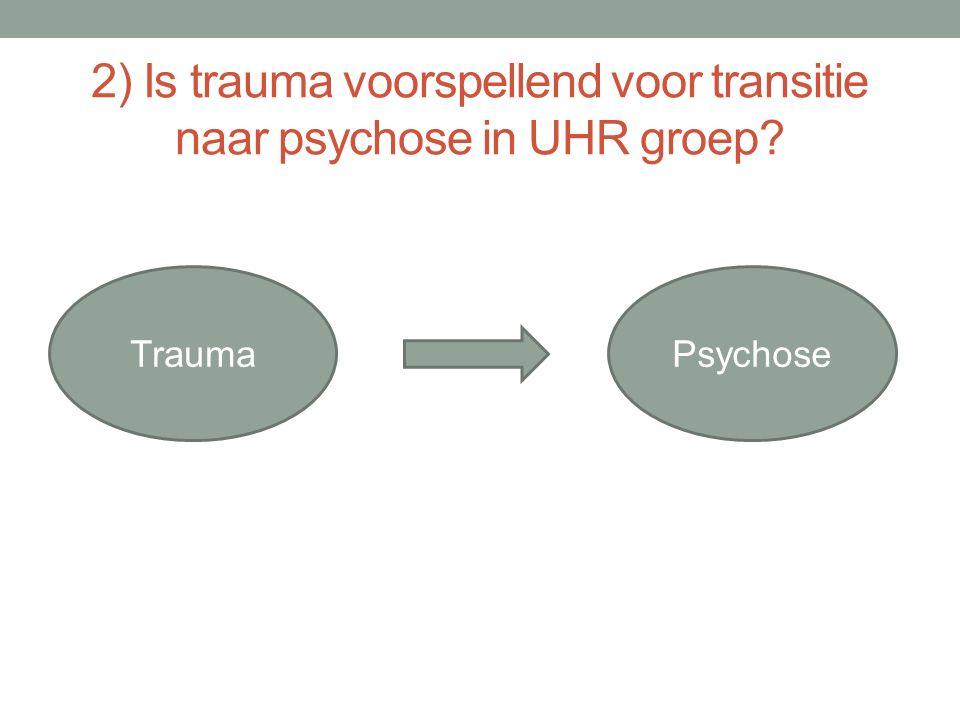 TraumaPsychose 2) Is trauma voorspellend voor transitie naar psychose in UHR groep?