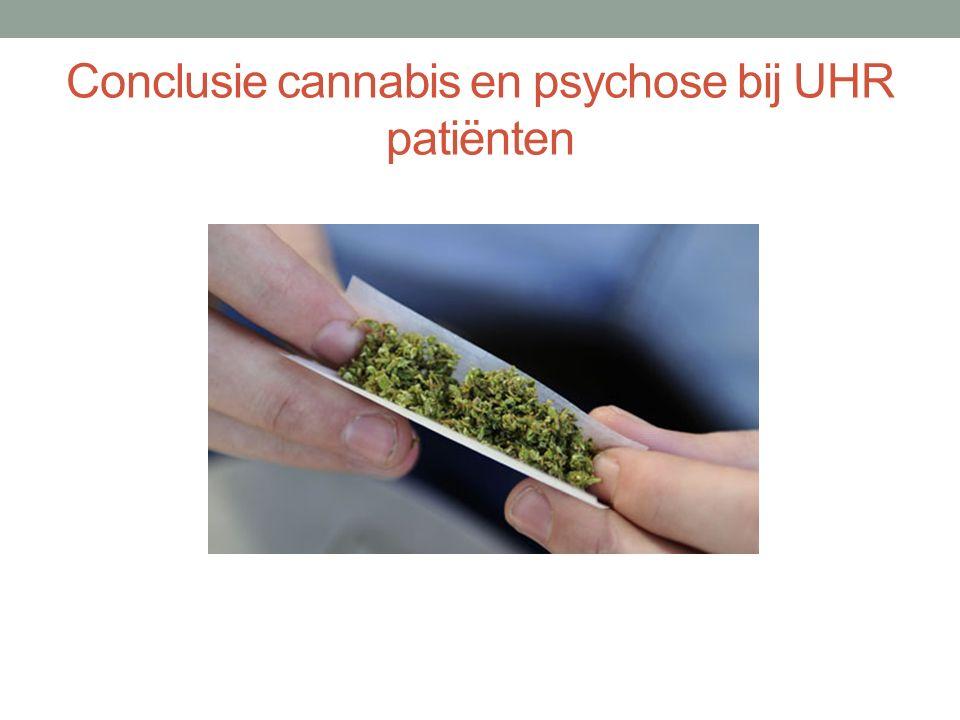 Conclusie cannabis en psychose bij UHR patiënten