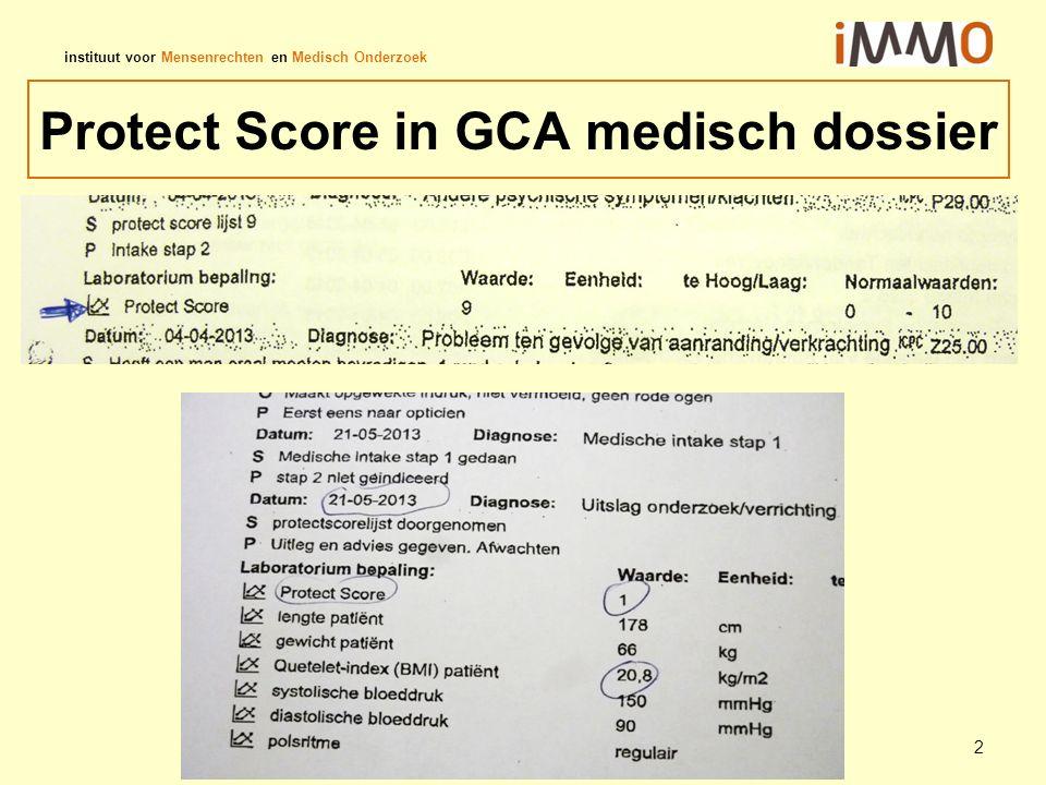 instituut voor Mensenrechten en Medisch Onderzoek Protect Score in GCA medisch dossier 2