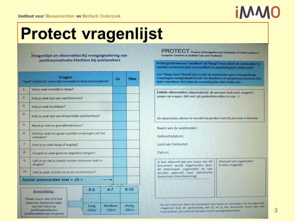 instituut voor Mensenrechten en Medisch Onderzoek Protect vragenlijst 3