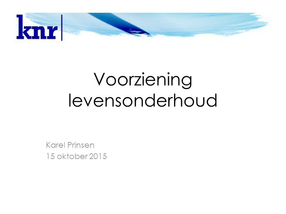 Voorziening levensonderhoud Karel Prinsen 15 oktober 2015