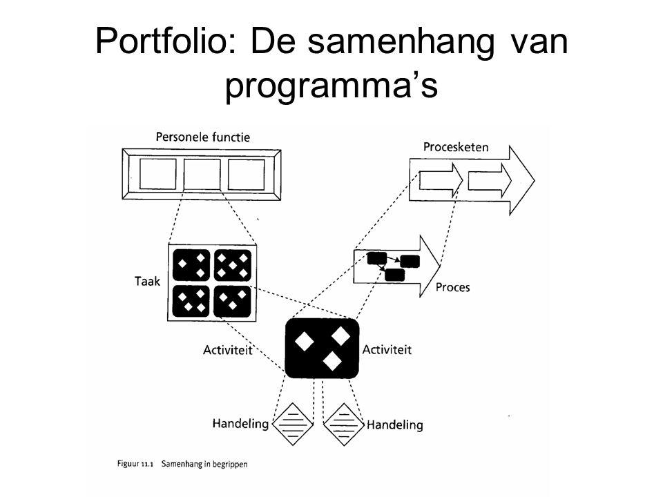 Portfolio: De samenhang van programma's